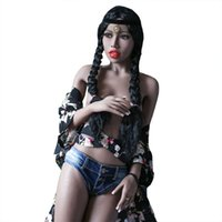 Wholesale Sex Doll Feet - Realistic Life Like Sex Dolls 168cm Sexy Black Small Boobs Skinny Adult Entity Toy Waterproof Movable Standing Feet