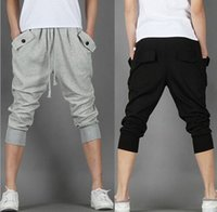 Wholesale Baggy Jeans Fashion Men - Mens Stylish Fashion Wear Casual Sport Clothing Sweat Pants Harem Training Dance Baggy Jogging Men Trousers Man's Slacks Jeans Shorts for