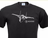 ingrosso camicie da aereo-Maglietta da uomo Maglietta da uomo estiva Maglietta da donna Sukhoi Su-34 Syrien Russian Airplane Bomber produce Tee Shirts