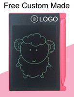 Wholesale custom board - 50pcs Free Custom Made LOGO 4.4inch LCD Writing Tablet Digital Digital Portable Drawing Tablet Handwriting Pads Electronic Tablet Board