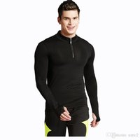 Wholesale Sports Full T Shirts - Men's tight elastic fast-drying long-sleeved sports T-shirt men's leisure fitness clothes