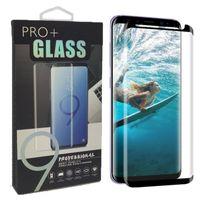 protetor de tela colorida iphone 5s venda por atacado-Caso protetor de vidro temperado 3d curvo filme amigável tela de superfície completa para samsung s9 s8 além de nota 9 8 s7 borda