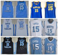 02964f385dd North Carolina Tar Heels 15 Vince Carter Jersey Men College High School  Florida Daytona Beach Mainland Carter Basketball Jerseys Blue Black