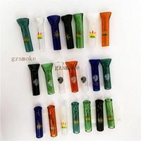 ingrosso alta qualità della sigaretta-Consigli per il rotolamento del vetro Suggerimenti per il filtro per sigarette Supporto per sigarette di alta qualità 7 colori Accessori per il taglio del fumo per tubi da taglio