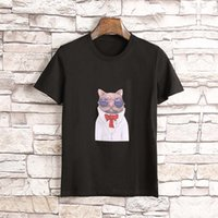 Wholesale Mens Printed T Shirts Sale - Hot sale USA Brand Male Short Sleeve Embroidery Printing T-Shirts Mens Casual Mens Slim Tshirt Slim Tee with tags best Quality M-3XL