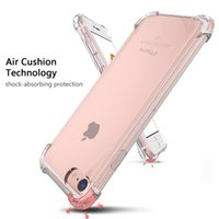 Wholesale Iphone 5s Clear Case Rubber - Air Cushion Clear Transparent 1.5MM Crystal Shockproof Armor TPU Soft Rubber Full Protection Cover Case For iPhone X 8 7 Plus 6 6S SE 5S 5