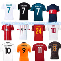 Wholesale factory outlet prices - 18 UEFA Champions League All 4 Clubs Jerseys, Factory Outlet All Network Lowest Price RONALDO ISCO GERRARD COUTINHO ROBBEN JAMES TOTTLI 15