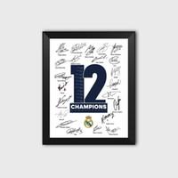 kraliyet dekorasyonları toptan satış-Kraliyet Los Blancos 12th Avrupa Şampiyonlar Ligi Taç Futbol Hayranları Imza Poster Fotoğraf Resim Çerçevesi Ramos Dekorasyon