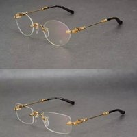 gafas de corazón masculino al por mayor-Nuevo corazón de cuervo sus monturas sin montura marcos de anteojos cuadrada marea redonda gafas de miopía masculinas monturas de gafas monturas de gafas