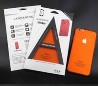 renkli iphone çıkartmaları toptan satış-Buz Yüzeyi iPhone 7 7 Artı Samsung s6 Kırmızı Arka Film İnce Ekran Koruyucu Koruyucu Kapak Çıkartmalar Renk Paster Arka Dekoratif Film