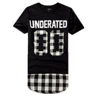 ingrosso uomini di camicia bandana-T-Shirt Harajuku T Shirt UNDERATED Bandana Uomo Esteso T-shirt da Skateboard Hip Hop tshirt Streetwear H4