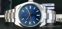 beste automatische sportuhr großhandel-Männer Luxusprodukte beste Qualität 40mm Edelstahl-Grün-Crystal Blue-Index 116400 Uhrwerk Automatik Mens-Sport-Edelstahl-Uhren.