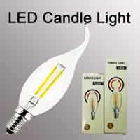 calentamiento de velas al por mayor-Bombilla de vela LED Luxbird Vela vintage Bombilla de filamento de luz LED B11 e12 3.5W Blanco cálido Whitte