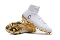 echte fußballschläger großhandel-Fußballschuhe der Generation 11 Real Madrid Mercurial Superfly V Neymar CR7 Fußballschuhe Ronaldo Soccer Cleats