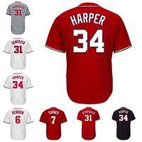 Wholesale m max - Trea Turner Max Scherzer Ryan Zimmerman Daniel Murphy Jayson Werth Stephen Strasburg Jerseys Washington Baseball