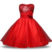 ingrosso vestito di natale di età-Teen Girl Clothes Natale Tutu Fiore Abiti per bambini Per le ragazze da sposa Neonate Cerimonie per bambini Costumi per feste Età 11 12 anni Y1891309