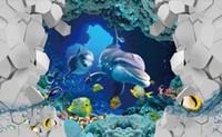 unterwasser-wandmalereien für großhandel-Benutzerdefinierte 3D Printing Wallpaper Das Wohnzimmer Schlafzimmer Wallpaper Murals für Wände Die Unterwasserwelt Fototapeten