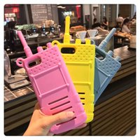 Wholesale telephone cases - Fashion Cartoon Sexy Girl 3D Simulation Walkie Talkie Interphone Telephone Silicone Phone Case For Iphone X 6 6S 7 8 PLUS