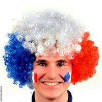 Discount european festivals - 2018 Head Wig Caps Revelry European Cup World Cup Flag Wig Fans Party Supplies Explosions Headgear Carnival Festival Props