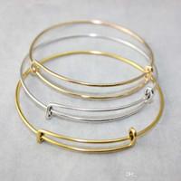 ingrosso scegliere il braccialetto-Nuovi braccialetti espandibili del braccialetto del cavo di modo monili placcati del braccialetto di fascino del braccialetto del braccialetto di dimensione selezionabile dei monili di dimensione all'ingrosso