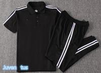 Wholesale polo jersey shirt online - 18 Short Sleeve tracksuits RONALDO Soccer Jersey MANDZUKIC juventus Football Polo shirt tracksuit