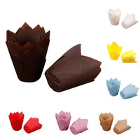 Wholesale cupcake cases supplies - 50pcs lot Simple Solid Paper Cupcake Liners for Wedding Muffin Wraps Patty Cases Cup Cake Liner Party Supplies