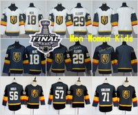 Wholesale 18 Gray - 2018 Stanley Cup Vegas Golden Knights 29 Marc-Andre Fleury Ice Hockey Jersey 18 James Neal Brank Men Women Youth Kids Gray Grey White