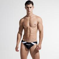 Wholesale slimming swimwear brands for sale - 2018 DESMIIT Brand Mens Sexy Swim Briefs New Swimming Swim Trunks Slim Swimwear Men s Swimming Trunks patchwork swimwear