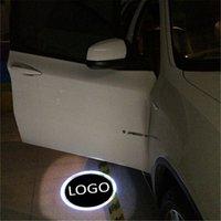 luz de sombra de laser de porta de carro venda por atacado-Para Kia para Saab 2 PCS LEVOU Porta Do Carro Bem-vindo Luz Laser Projetor Logo Sombra Luz Do Carro-styling Decoração de Interiores de Luz Do Carro