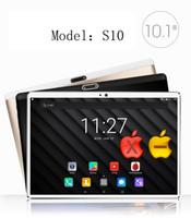 cámara de gafas de 4 gb al por mayor-2018 Nuevo 2.5D Glass 10 pulgadas Deca Core 4G FDD LTE Tablet 4GB RAM 64GB ROM 1920 * 1200 Cámaras dobles Android 7.0 Tablet 10