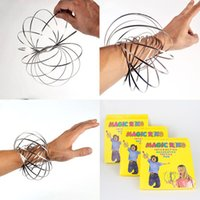 Wholesale Science Children - Toroflux Flow rings 5 inch flow toys arm slinky inductive toy children sport moving toys for kids gift relaxing and decompression