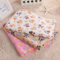 tapis de nuit pour chat achat en gros de-Paw Print Blanket Couverture pour animaux de compagnie Couverture pour chiots pour animaux de compagnie Couvertures pour bébé
