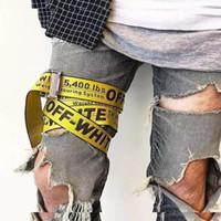 ingrosso cinture di tela gialla-0W Cintura moda giallo versione coreana del selvaggio decorativo vestito semplice lettera ampia cintura uomo e donna moda tela cintura HFBYYD020