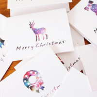 Wholesale Noel Christmas Ornament - Wholesale- 50 Pcs Lot Christmas Cards Greeting Card 3D Card Postcard Gift Xmas Noel Christmas Decorations for Home Ornaments New Year