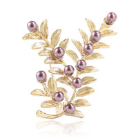Wholesale high class dresses - New Lavender Grass Women Wedding Dress Brooch White Suit Brooch Pin Pearl Brooch Pins New High Class Fashional Exquisite Pins Rhinestone