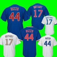 Wholesale kris bryant - Chicago 44 Anthony Rizzo 17 Kris Bryant Jersey Men's 12 Kyle Schwarber 22 Jason Heyward Baseball Jerseys Cheap wholesale Free Shipping