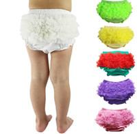Wholesale Toddler High Waist Shorts - 10 Colors Ins new baby Ruffles PP short high quality girls toddler Short Elastic Waist PP pants All-match cute summer shorts