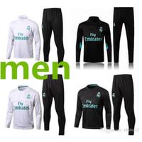 Wholesale training suits for men - 2017 18 Real Madrid Football jacket tracksuit de foot JAMES BALE RAMOS ISCO jacket Training suit Size S-XL For men Factory wholesale