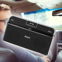 Wholesale bluetooth car hands free speakerphone online - Universal Wireless Bluetooth Handsfree Speakerphone V4 Car Kit Adapter AUX Hands free Receiver Car Charger For Mobile Phones