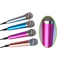 Wholesale Wire Recorders - Mini 3.5mm Handheld Karaoke KTV Cellphone Microphone Wired Small Recorder Microphone for Cellphone Computer Sing Soft