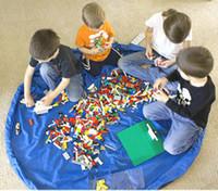 çocuklar açık oyun paspaslar toptan satış-Çocuklar Oyuncak Saklama Çantası Taşınabilir oyun mat piknik mat açık kapalı oyuncak oynamak depolama çanta 150 cm 3 renkler her yaş için
