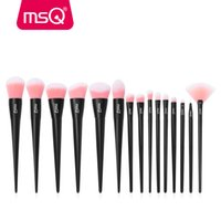 Wholesale msq brushes resale online - MSQ Makeup Brush Set Professional Foundation Powder Eyeshadow Lip Make Up Brushes Kit Plastics Handle Synthetic Hair