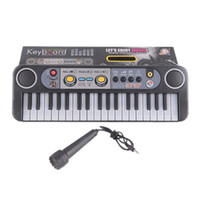 Wholesale mini piano toys - Mini Electronic piano Multifunctional Keys Electone Keyboard Musical Toys with Microphone Educational Toys for Children Beginners