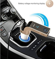 Wholesale F Cards - G7 Smartphone MP3 Radio Bluetooth Player Transmitter Modulator 2.1A Car Charger Wireless Kit Support Hands-free Micro SD TF Card Handfree F