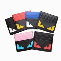 Wholesale pu leather business card holder case for sale - PU Leather Card Wallets Men Wallet Women Small Credit Card Wallet Mini Little Monster Thin Money Bag ID Case Purse