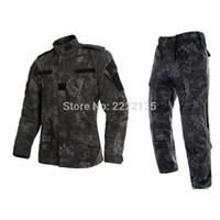 chaquetas de uniforme de los hombres al por mayor-Tactical US RU Army Uniforme de combate de camuflaje Hombres BDU Multicam Camo Uniform Clothing Set Outdoor Jacket + Pants