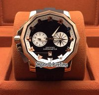 Wholesale stopwatch big resale online - New Admiral s Cup Seafender F81 Rose Gold Black Dial Big Size Miyota Quartz Chronograph Mens Watch Rubber Stopwatch Watches a