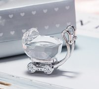 Wholesale baby shower supplies free shipping resale online - Chic Crystal Favors Baby Carriage Party Favors Gifts for Wedding Baby Shower Supplies W8162