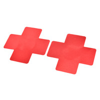 Sexy Women Adhesive Nipple Covers Petals Breast and Sticker Cross Shape Emptied Chest Petals