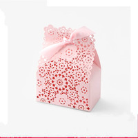 Wholesale printing chemicals for sale - Exquisite Wedding Ceremony Packing Box Trumpet Hollow Colour Printing Candy Boxes Pure Hand Made Gift Wrap With Bowknot zx jj